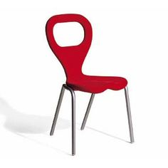 TV Chair 1993 Marc Newson, steel frame covered with polyurethane foam, Moroso