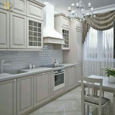 Kitchen Room Design, Home Room Design, Modern Kitchen Design, Home Decor Kitchen, Interior Design Kitchen, Kitchen Furniture, Luxury Kitchens, Home Kitchens, Tall Kitchen Cabinets