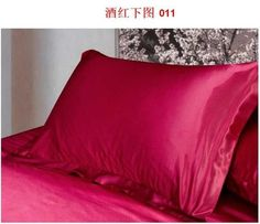 Satin Pillowcase For Hair Fascinating 1Pc Pure Emulation Silk Satin Pillowcase Single Pillow Cover Decorating Inspiration