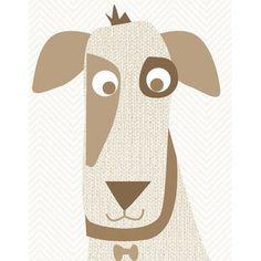 Oopsy Daisy Little Dog Grin Canvas Art