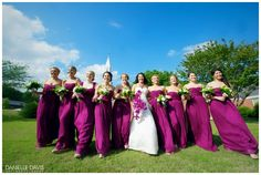 Bridesmaids, Bridesmaids dresses, Bridesmaids flowers, Weddings, Wedding Photography, Purple Bridesmaids dresses