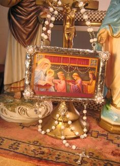Feast of the Queen of the Most Holy Rosary  by TheRecycledCatholic, $50.00