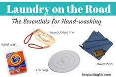 Essential Pack Items for Hand-Washing Clothes on the Road