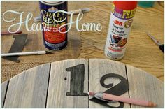 easy diy pallet clock, crafts, home decor, outdoor living, pallet, repurposing upcycling, With craft paint I carefully painted in the numbers