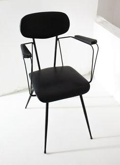 Gastone Rinaldi; Enameled Metal Armchair, 1950s.