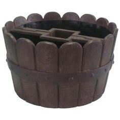 mailbox landscaping MPG 20 in. D Cast Stone Mailbox Planter in Barrel at The Home Depot