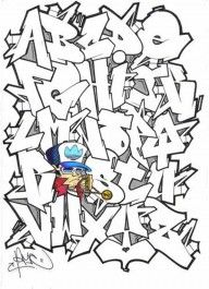 graffiti alphabets of 3D style 3D graffiti alphabets Hard Graffiti