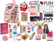 Sweet, fun back to school essentials for tweens girls tween Teenage Fashion Brands, Teen Fashion, Fashion 2016, Teenager Fashion, Junior Fashion, Fashion Trends, Fashion Clothes, School Supplies Organization, Back To School Supplies