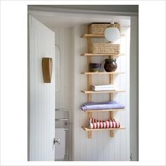 Cool shelving, maybe over the toilet in the bathroom?