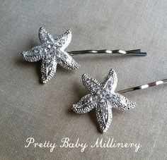 Beach Wedding hair accessories  Starfish by PrettyBabyMillinery, $18.00