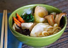 Three Mushroom Vegetarian Nabeyaki Udon