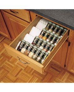 Rev-A-Shelf universal spice rack, $47.99 Walmart
