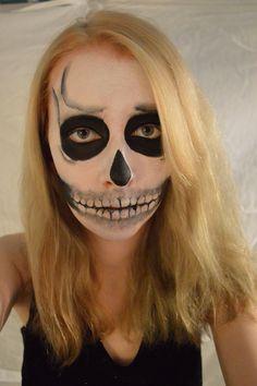 Skeleton makeup 2 #skeleton #skull #makeup #facepaint #skeltonmakeup #alevel #artstudent Skeleton Makeup, Art Photography, Halloween Face Makeup, Skull, Make Up, Fine Art Photography, Makeup, Beauty Makeup, Artistic Photography