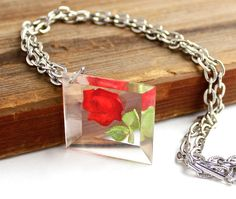 Vintage Rose Necklace  Silver Tone Flower by MaejeanVINTAGE, $14.00
