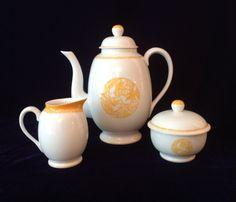 Vintage Lalique Limoges Merles et Raisins tea set made in partnership with HAVILAND.  Come and get it at TheTalentedTeaCup