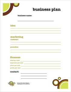 Kids Business Plan Free Small Template Sample