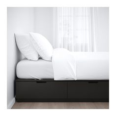 NORDLI Bed frame with storage IKEA The 6 large drawers give you extra storage space under the bed.