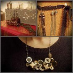 buttons jewelry love it! must try! #ecrafty