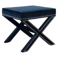 Meridian Furniture Inc Nixon Velvet Ottoman | Hayneedle