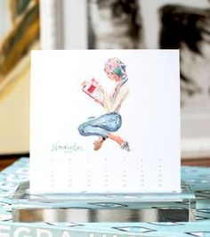 *Sold Out* The 2019 edition of the Classic Desktop Calendar features a collection of twelve brand new figural fashion illustrations and numeric calendars on cards nestled in a gift box. Desktop Calendar, Where The Heart Is, Classic, Prints, Cards, Carbon Neutral, Fashion Illustrations, Box, Gift
