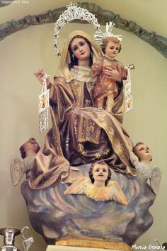 Blessed Mother Mary, Blessed Virgin Mary, Lady Of Mount Carmel, Jesus Christ Images, Say A Prayer, Baby Jesus, Madonna, Statues, Catholic