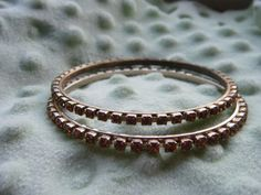 Vintage Bangle Bracelets  Gold Tone Metal  Madeira by gammiannes, $22.00
