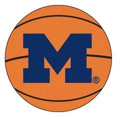 Michigan Wolverines NCAA Basketball Round Floor Mat (29)