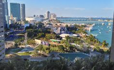 A view of the Ultra Music Festival at Miami's Bayfront Park. I had a photo or video opportunity and decided to take a photo to spare you from what some call music :-)
