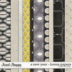 A New Year - Bonus Papers - by Red Ivy Design