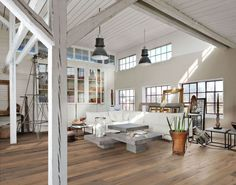 industrial white interior