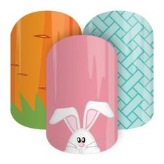 Get Hoppy   Jamberry Nails Definitely going to have to grab some of these for Easter. I know it's a long way off yet, but hey, hot cross buns are already in store so there! #jamberry #easter
