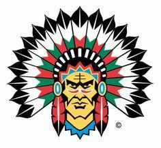 Frölunda Indians Primary Logo (1996) - The Frölunda Indians is a professional ice hockey club from Gothenburg, Sweden.