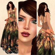 I love this dress (in secondlife)...great details in the skirt!