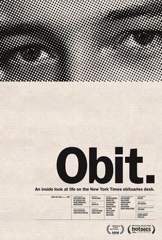 Obit poster designed by Kristin Bye