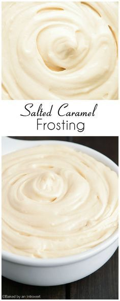 Creamy salted caramel frosting that pairs great with chocolate or vanilla cakes. Salted Caramel Icing, Caramel Buttercream Frosting, Salted Caramel Filling Recipe, Salted Caramels, Carmel Cake Icing, Carmel Frosting Recipe, Homemade Cake Frosting, Chocolate Caramel Cupcakes, Brownie Frosting