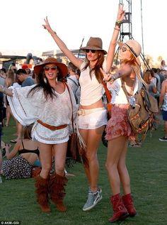 Alessandra Ambrosio & Friends at Coachella festival 2014