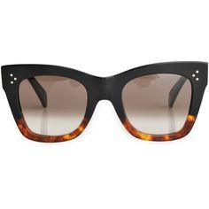 Celine Cathrine sunglasses ($350) ❤ liked on Polyvore