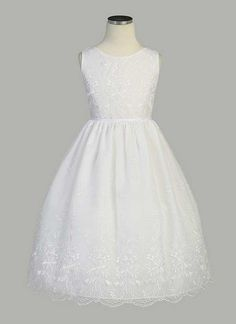 (NATI'S AND REENIE'S ABSOLUTE FAVORITE!!!!) Bouquet Embroidered Organza Dress - First Communion Dresses