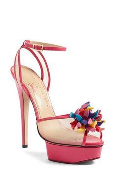 Charlotte Olympia x Barbie® Pomeline Peep Toe Sandal (Women)