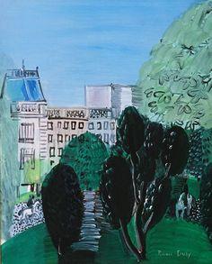 huariqueje:  L' Avenue du Bois de Boulogne -  Raoul Dufy...
