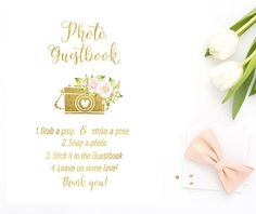 Wedding Photo Booth Sign Photo Guestbook Sign Wedding