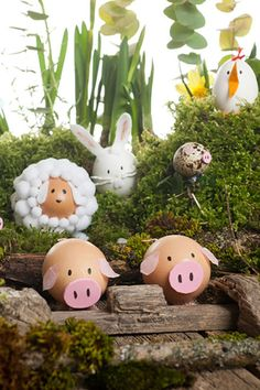 Farm Animal Eggs:  This farm scene's cuteness level is off the scale.