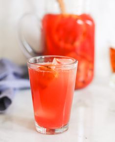 Bourbon Campari Punch (aka CamParty Punch). Perfect for summer entertaining!! www.domesticate-me.com