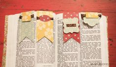 Magnetic bookmark tutorial DIY - Use a folded flag. Glue pieces of magnetic sheets opposite inside the fol, but at the opposite end from the fold