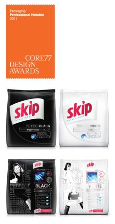 the packaging design for Skip Perfect Black/ Perfect White. This was developed for Unilever Argentina by Casa Rex