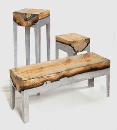 Aluminio + madera