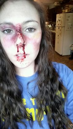 Special effects makeup Wound Makeup, Scar Makeup, Makeup Fx, Nose Makeup, Cosplay Makeup, Costume Makeup, Makeup Tips, Teen Makeup, Makeup Ideas