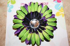 Halloween Gerber Daisy Flower Hair Clip by PinkBugBoutique on Etsy, $4.00