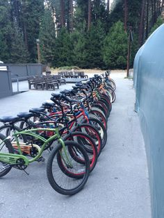 Curry Village Bike rental.  Yosemite Valley.