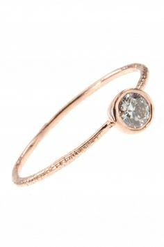 delicate rose gold diamond ring...